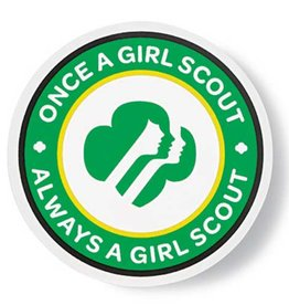 GIRL SCOUTS OF THE USA GS Alumna Car Magnet Circle