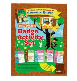 GIRL SCOUTS OF THE USA Brownie It's Your World Badge Pkt