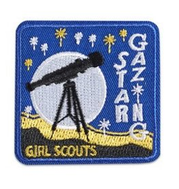 GIRL SCOUTS OF THE USA Star Gazing Telescope Patch