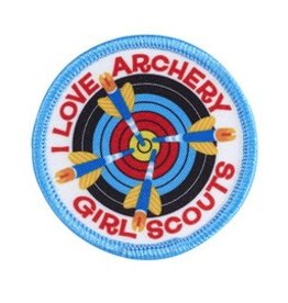 GIRL SCOUTS OF THE USA I Love Archery Patch