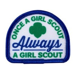 GIRL SCOUTS OF THE USA Once a GS Always a GS Patch
