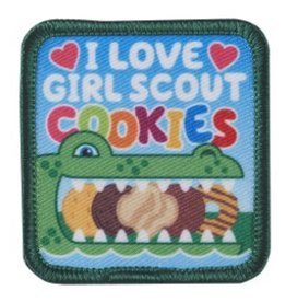 GIRL SCOUTS OF THE USA I Love Girl Scout Cookies Patch