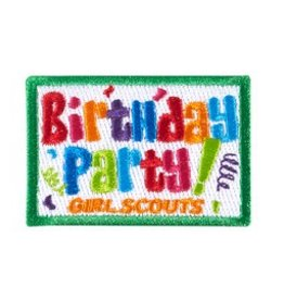 GIRL SCOUTS OF THE USA Birthday Party Fun Patch