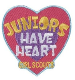 GIRL SCOUTS OF THE USA Juniors Have Heart Fun Patch