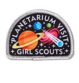 GIRL SCOUTS OF THE USA Planetarium Visit Patch