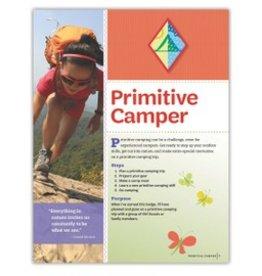 GIRL SCOUTS OF THE USA Cadette Primitive Camper Require.