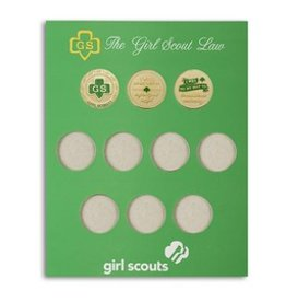 GIRL SCOUTS OF THE USA GS Laws Coin Holder
