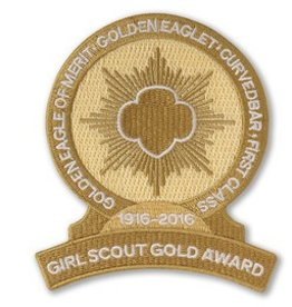 GIRL SCOUTS OF THE USA Gold Award Centennial Emblem