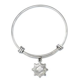 GIRL SCOUTS OF THE USA Silver Award Bangle Bracelet w