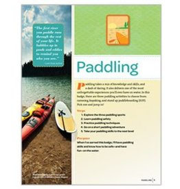 GIRL SCOUTS OF THE USA Senior Paddling Badge  Req.