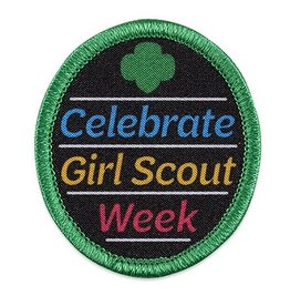 GIRL SCOUTS OF THE USA Celebrate Girl Scout Week Patch