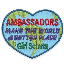 GIRL SCOUTS OF THE USA Ambassadors Make the World a Better Place Fun Patch