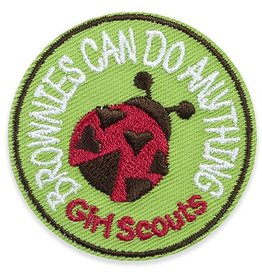 GIRL SCOUTS OF THE USA Brownies Can Do Anything Ladybug Patch