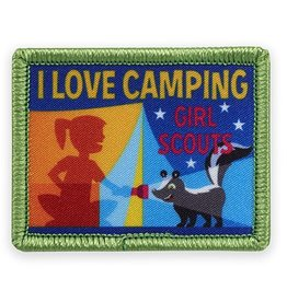 GIRL SCOUTS OF THE USA I Love Camping Fun Patch