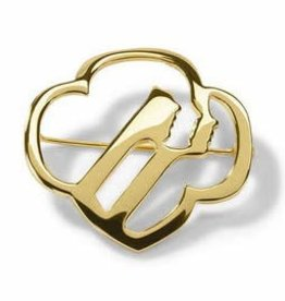 GIRL SCOUTS OF THE USA Profiles Brooch - Gold