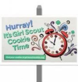 GIRL SCOUTS OF THE USA Cookie Time Yard Sign