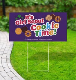GIRL SCOUTS OF THE USA Cookie Yard Sign - Purple