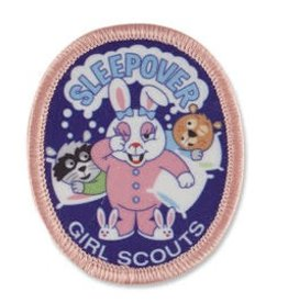GIRL SCOUTS OF THE USA Sleepover Bunny and Friends Patch