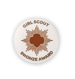 GIRL SCOUTS OF THE USA Bronze Award Button Pin