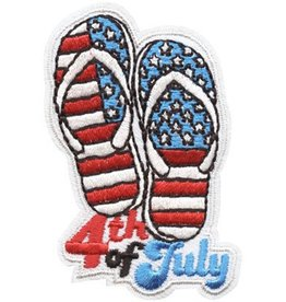 Advantage Emblem & Screen Prnt 4th of July Flip Flops Fun Patch