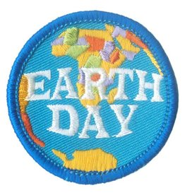 Advantage Emblem & Screen Prnt Earth Day Blue Fun Patch