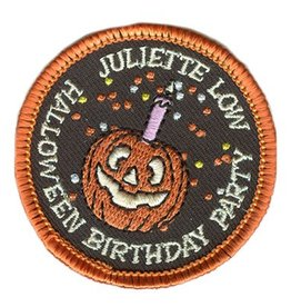 Advantage Emblem & Screen Prnt Juliette Low Happy Birthday Halloween Fun Patch