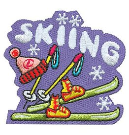 Advantage Emblem & Screen Prnt Skiing Fun Patch