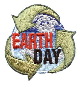 Advantage Emblem & Screen Prnt Earth Day Recycle Arrows Fun Patch
