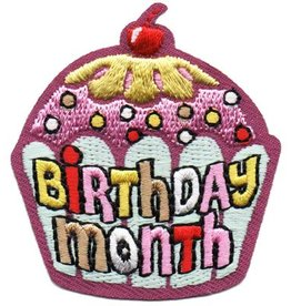 Advantage Emblem & Screen Prnt Birthday Month Cupcake Fun Patch