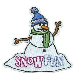 Advantage Emblem & Screen Prnt Snow Fun Snowman Fun Patch