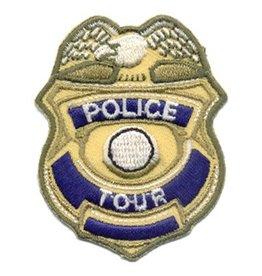 Advantage Emblem & Screen Prnt Police Tour Badge Fun Patch