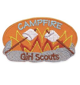 GIRL SCOUTS OF THE USA Campfire Iron-On Fun Patch