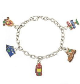 GIRL SCOUTS OF THE USA Camping Charm Bracelet