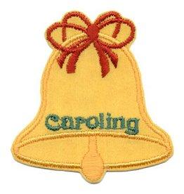 Advantage Emblem & Screen Prnt Christmas Caroling Gold Bell Fun Patch