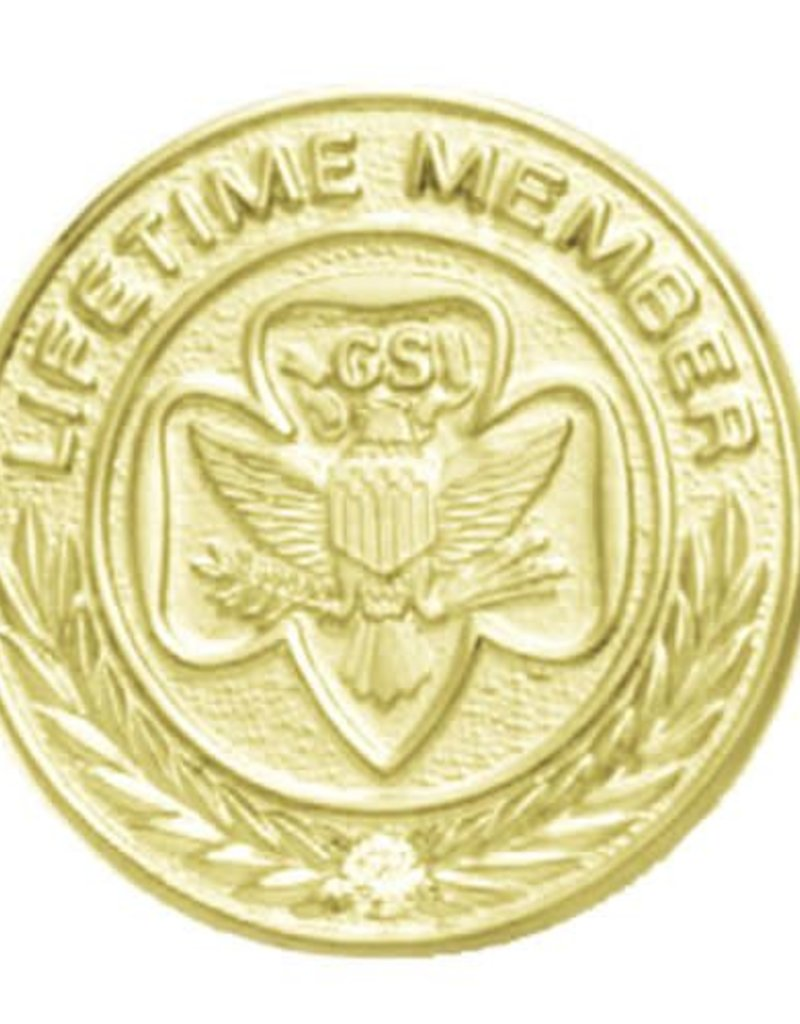 GIRL SCOUTS OF THE USA Lifetime Membership Pin Traditional
