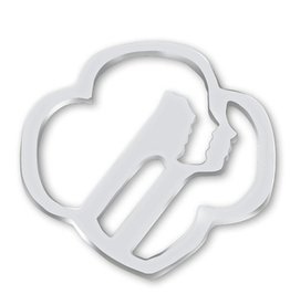 GIRL SCOUTS OF THE USA Profiles Contemporary Magnetic Silver Brooch