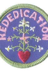 Advantage Emblem & Screen Prnt Rededication Flowers with Heart Fun Patch