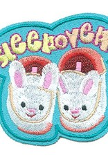 Advantage Emblem & Screen Prnt Sleep Over Bunny Slippers Fun Patch