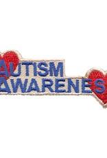 Advantage Emblem & Screen Prnt Autism Awareness Hearts Fun Patch