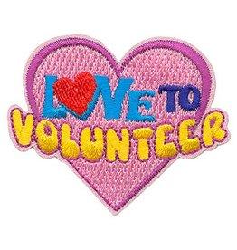 Advantage Emblem & Screen Prnt Love to Volunteer Fun Patch