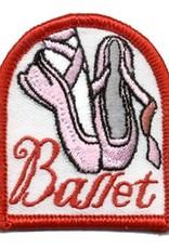Advantage Emblem & Screen Prnt Ballet Pink Toe Shoes Fun Patch