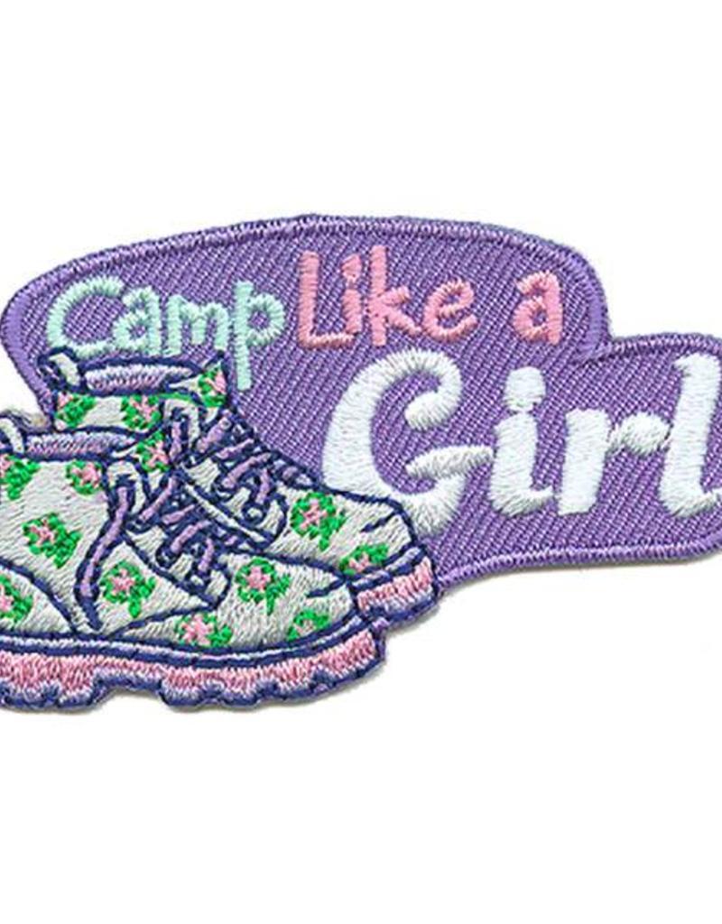 Advantage Emblem & Screen Prnt Camp Like a Girl Boots Fun Patch