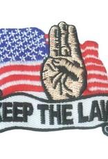 Advantage Emblem & Screen Prnt Keep the Law Fun Patch