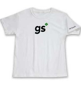 GIRL SCOUTS OF THE USA GS White Shorthand Tee YXL