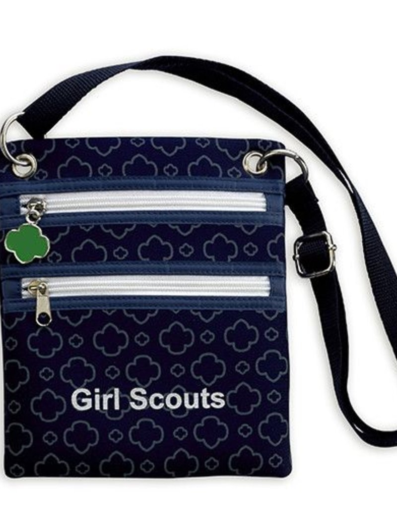GIRL SCOUTS OF THE USA ! Navy Neoprene Crossbody Bag