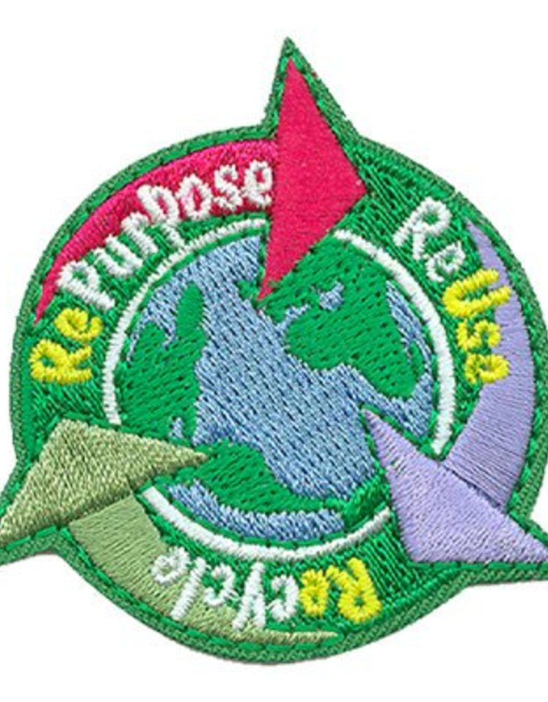 Advantage Emblem & Screen Prnt Repurpose Reuse Recycle Earth Environment Fun Patch