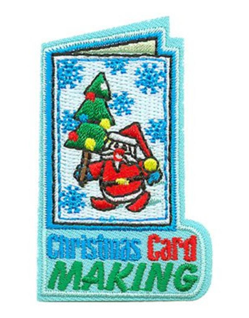 Advantage Emblem & Screen Prnt Christmas Card Making Fun Patch