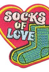 Advantage Emblem & Screen Prnt Socks of Love Fun Patch