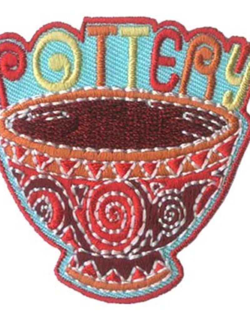 Advantage Emblem & Screen Prnt Pottery Bowl Fun Patch