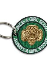 GIRL SCOUTS OF THE USA Once a Girl Scout Always a Girl Scout Key Ring